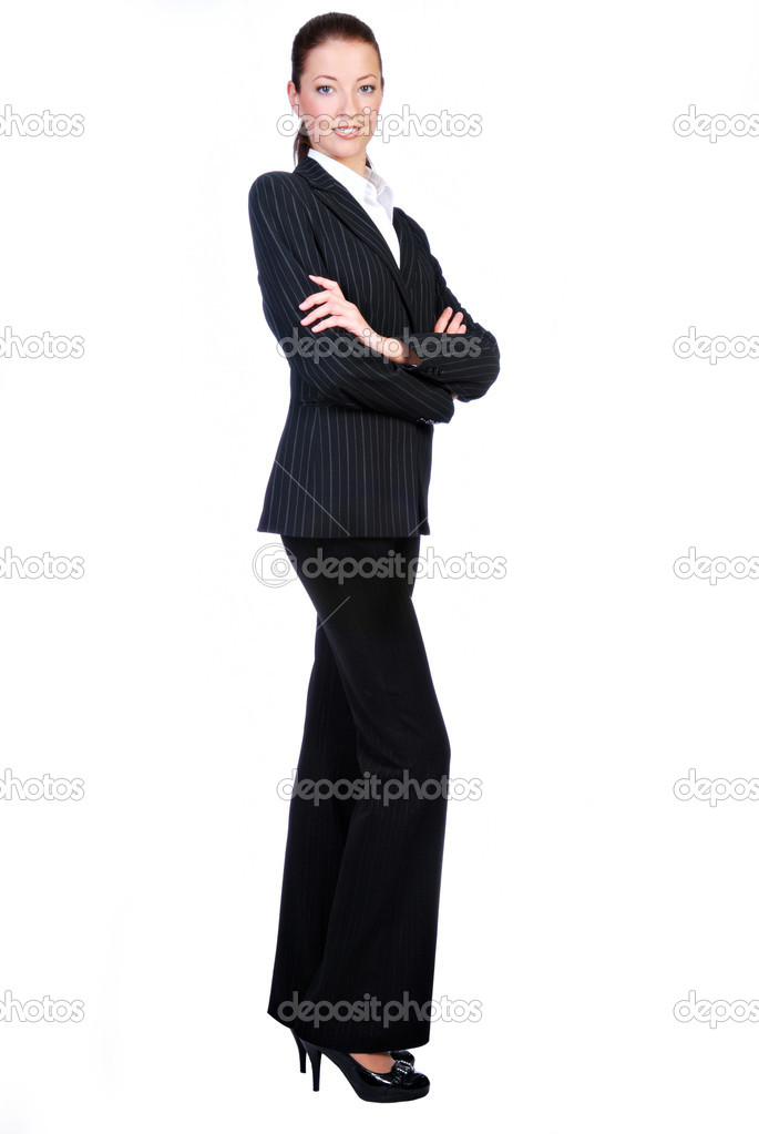 Businesswoman  isolated on a white background   Foto de Stock   #1461339