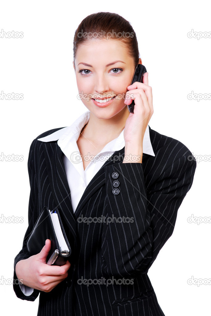 Portrait of a young successful beautiful businesswoman — Stock Photo #1461366