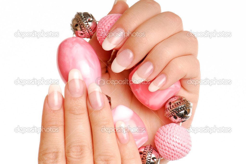Elegance woman fingers and nails.   Stock Photo #1468948