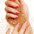 Red beautiful fingernails. — Stock Photo #1476558