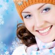 Happy winter face — Stock Photo