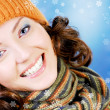 Happy teen in winter concept — Stock Photo #1476745