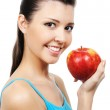 Female and apple — Stock Photo #1477591