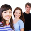 Three young smiling teens — Stock Photo #1477974