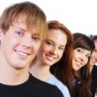 Row of smiling face — Stock Photo