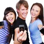 Wyświetlono telefonów komórkowych — Zdjęcie stockowe