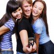 Foto Stock: Teenagers playing