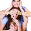 Joyful teenager group — Stockfoto