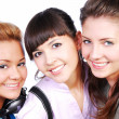 Three beautiful female teenagers — Stock Photo