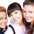 Three beautiful female teenagers - Stock Photo