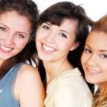 rostos de amigos felizes — Foto Stock