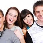 séduisantes jeunes étudiants — Photo