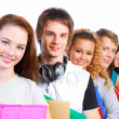 Students lined up - Stock Photo