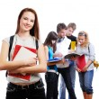 Stock Photo: Graceful female student