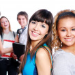 Two beautiful young female students — Stock Photo