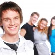 Smiling teen face - Stock Photo