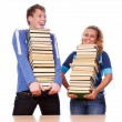 Two funny students — Stock Photo