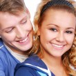 Foto Stock: Couple flirting