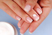 Moisturizer of fingernail — Stock Photo