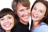Three beautiful teenagers — Stock Photo