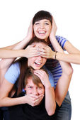 Joyful teenager group — Stock Photo