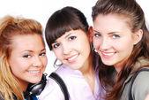 Three beautiful female teenagers — Stock Photo