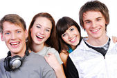 Attractive young students — Stock Photo
