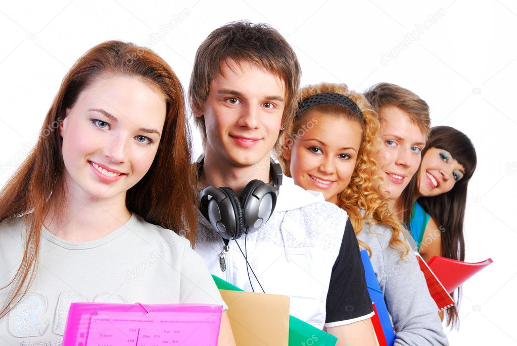 Group of the students lined up for a portrait. — Stock Photo #1478557