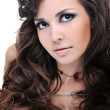 Beautiful brown curly hairs — Stock Photo