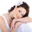 Portrait of young cute bride — Stock Photo