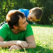 Happy father with his little boy - Foto Stock