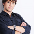 Portrait of a  calm young guy posing — Stock Photo #1485773