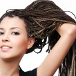 Showing the  dreadlocks - 图库照片