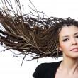 Beauty creativity hair — Stock Photo