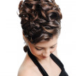 Modern style hairstyle — Stock Photo