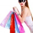 Female shopping bags after shoppings — Stock Photo