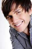 Face of a happy handsome guy — Stock Photo