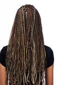 Hairstyle dreadlocks — Stock Photo