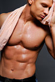 Sexy wet body — Stock Photo