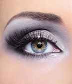 Make-up woman eye grey eyeshadows — Stock Photo