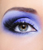Light blue make-up of woman eye — Stock Photo