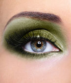 Make-up woman eye khaki eyeshadows — Stock Photo