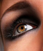 Brown eyeshadow — Stock Photo