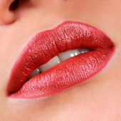 Beautiful red lips — Stock Photo