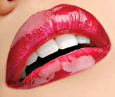 Glam wine-coloured lips. — Stock Photo
