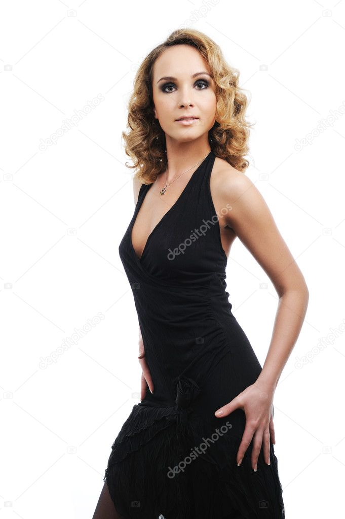 Young elegant beautiful woman with the perfect shape of body — Stock Photo #1485465