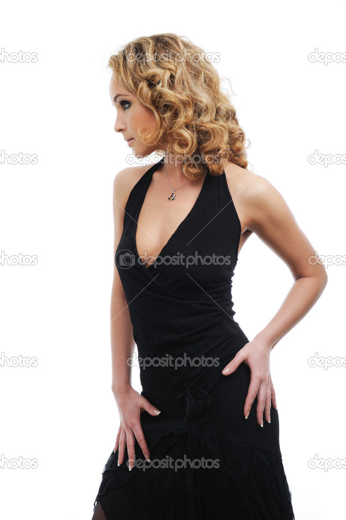 Profile view of elegant beautiful woman with the perfect shape of body — Stock Photo #1485469