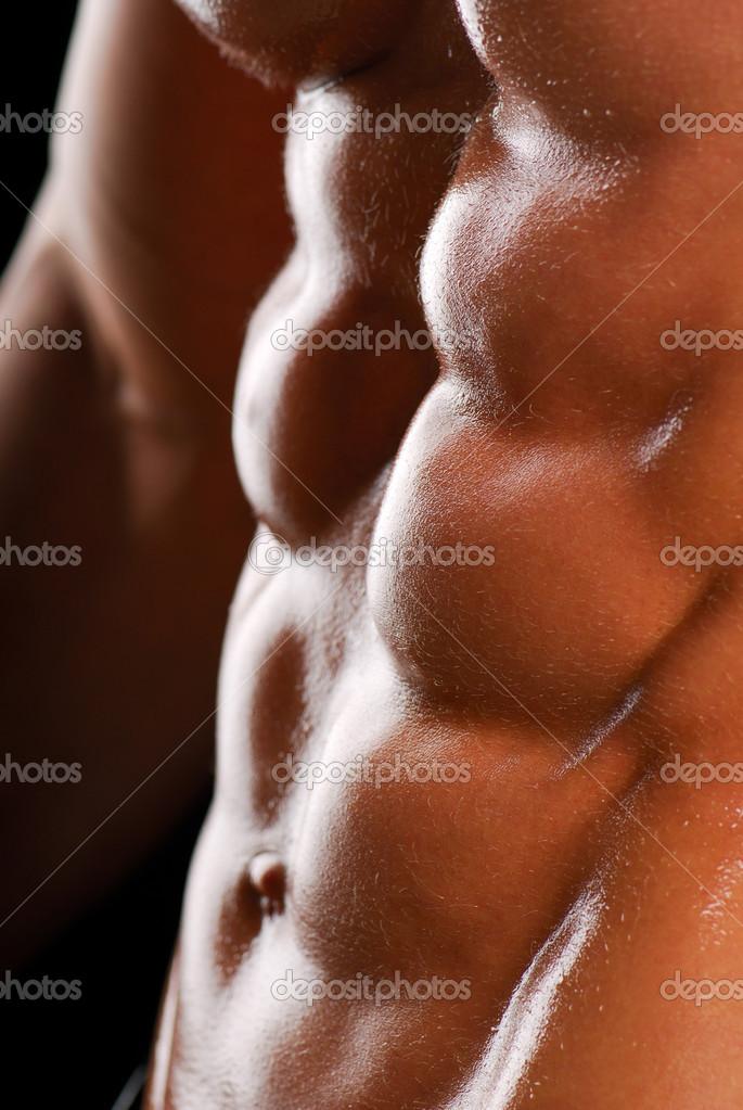 Beautiful men torso. Color image. Health lifestyle. — Stock Photo #1487292