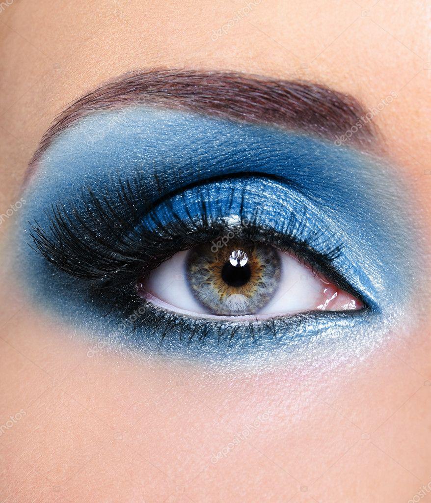 Фото с макияжем для зеленого цвета глаз
