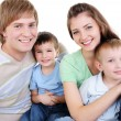 Happy family with two sons — Stock Photo #1503093